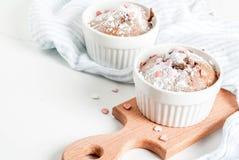 Walentynki ` s dnia kubka tort Fotografia Royalty Free