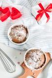 Walentynki ` s dnia kubka tort Obraz Royalty Free