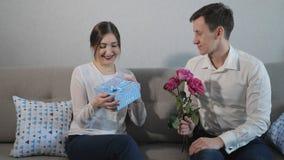 Walentynki ` s dnia prezent zdjęcie wideo
