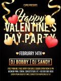 Walentynki ` s dnia przyjęcia świętowania zaproszenia karta Obrazy Royalty Free