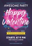 Walentynki ` s dnia przyjęcia klubu wydarzenia ulotki projektów układu szablon ilustracja wektor