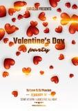 Walentynki ` s dnia przyjęcia plakat Zdjęcia Stock