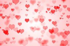 Walentynki ` s dnia serc tło Fotografia Royalty Free