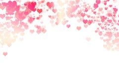 Walentynki ` s dnia serc tło Obraz Royalty Free