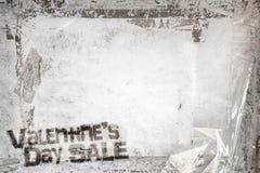 Walentynki ` s dnia sprzedaży grunge tło Zdjęcia Royalty Free
