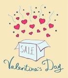 Walentynki ` s dnia sprzedaży sztandar royalty ilustracja