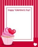 Walentynki s dnia Vertical rama ilustracja wektor