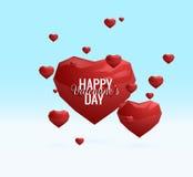 Walentynki ` s dnia wektorowy niski poli- kierowy tło EPS10 Zdjęcie Stock