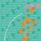 Walentynki ` s dzień Kocha Ja miłość Ja Nie słowo Obłoczna tekstura Obraz Stock