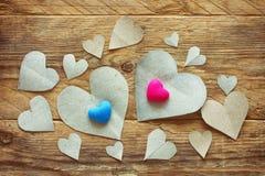 Walentynki ` s dzień, papierowy serce Zdjęcia Royalty Free