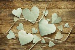 Walentynki ` s dzień, papierowy serce Obraz Royalty Free