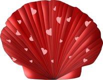 Walentynki Seashell Obrazy Stock