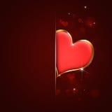 Walentynki serca czerwona kartka Obrazy Royalty Free