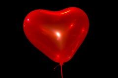 Walentynki serca czerwony balon na czarnym tle Obraz Royalty Free