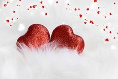 Walentynki serca dekoracja Zdjęcie Royalty Free