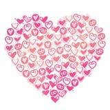 Walentynki serca ilustracja. Obraz Stock