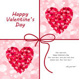 Walentynki serca karty ilustracja Obraz Royalty Free