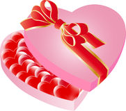 Walentynki serca pudełko Zdjęcie Royalty Free