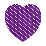 Walentynki serca simbol kierowy purpurowy colour na białym tle royalty ilustracja
