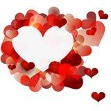 Walentynki serca tło Zdjęcia Stock