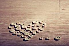 Walentynki serce od guzików Obraz Stock
