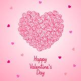 Walentynki serce robić róże, wektorowy kartka z pozdrowieniami Zdjęcie Royalty Free