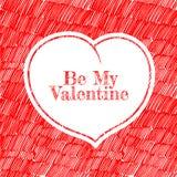 Walentynki serce szablon Fotografia Royalty Free