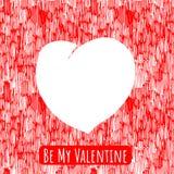 Walentynki serce szablon Obrazy Stock