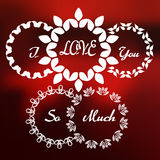Walentynki siatka Logo-02 Obrazy Stock