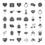 Walentynki sieci Stałe ikony Obrazy Royalty Free