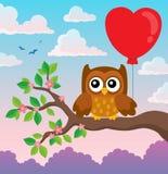Walentynki sowy tematu wizerunek 7 Zdjęcia Stock