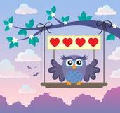 Walentynki sowy tematu wizerunek 8 Zdjęcie Stock