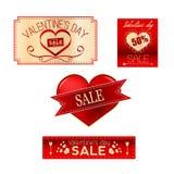Walentynki sprzedaży set Zdjęcia Royalty Free