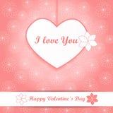 Walentynki tło różowy wektor - serce i kwiaty - Obrazy Royalty Free
