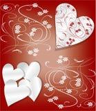 Walentynki tło w art deco stylu Obrazy Stock