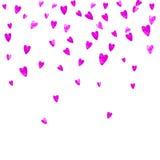 Walentynki tło z menchii błyskotliwości sercami Luty 14th dzień Wektorowi confetti dla valentine tła szablonu Fotografia Royalty Free