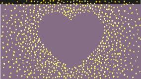 Walentynki tło z menchii błyskotliwości sercami Luty 14th dzień Wektorowi confetti dla valentine tła szablonu Obraz Royalty Free