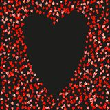 Walentynki tło z menchii błyskotliwości sercami Luty 14th dzień Wektorowi confetti dla valentine tła szablonu Fotografia Stock