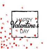 Walentynki tło z złocistymi błyskotliwość sercami Luty 14th dzień Wektorowi confetti dla valentine tła szablonu Zdjęcie Stock