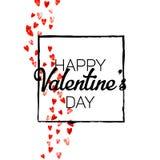 Walentynki tło z złocistymi błyskotliwość sercami Luty 14th dzień Wektorowi confetti dla valentine tła szablonu Fotografia Royalty Free