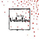 Walentynki tło z złocistymi błyskotliwość sercami Luty 14th dzień Wektorowi confetti dla valentine tła szablonu Zdjęcia Royalty Free