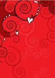 Walentynki tło Obrazy Royalty Free