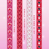 Walentynki tasiemkowy scrapbook 1 Fotografia Royalty Free