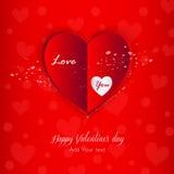 Walentynki, walentynka dnia karta, kocham ciebie, kartka z pozdrowieniami walentynki ` s dzień Zdjęcia Royalty Free