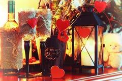 Walentynki wina butelki czarodziejka Obrazy Stock