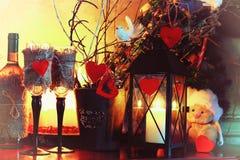 Walentynki wina butelki czarodziejka Zdjęcia Royalty Free