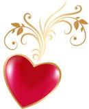 Walentynki złoto Zdjęcia Royalty Free