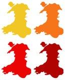 Wales översikt - land som är delen av Förenade kungariket Fotografering för Bildbyråer