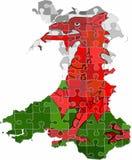 Wales översikt som göras av pusselbakgrund vektor illustrationer