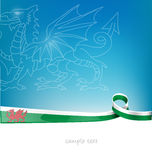 Wales-Bandflagge Stockfotos